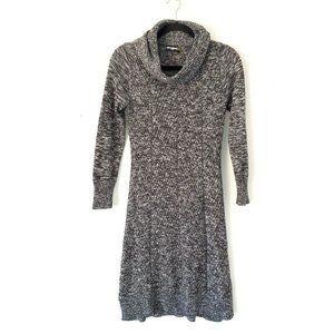 Karl Lagerfeld Womens Gray Cowl Neck Sweater Dress